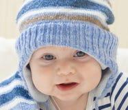 Menino engraçado do louro da criança do bebê de Portret Imagem de Stock Royalty Free