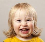 Menino engraçado do louro da criança do bebê de Portret Imagens de Stock
