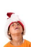 Menino engraçado do Natal Fotos de Stock Royalty Free