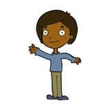 menino feliz dos desenhos animados cômicos ilustração stock