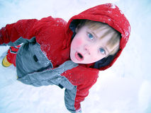 Menino frio Fotografia de Stock Royalty Free