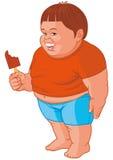 Menino gordo ilustração royalty free