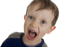 Menino gritando Imagem de Stock Royalty Free