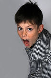 Menino gritando Fotos de Stock