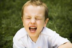 Menino gritando Foto de Stock