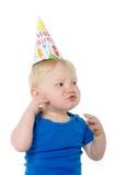 Menino infeliz do aniversário Foto de Stock Royalty Free