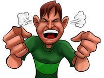 Menino irritado Foto de Stock Royalty Free