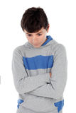 Menino irritado do adolescente fotos de stock