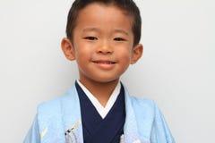 Menino japonês no festival de Seven-Five-Three Imagem de Stock