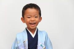 Menino japonês no festival de Seven-Five-Three Imagem de Stock Royalty Free