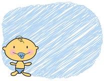 Menino justo da pele do bebê dos desenhos animados Imagens de Stock