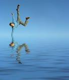 Menino na água Foto de Stock Royalty Free