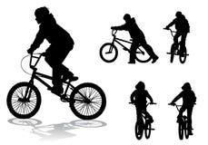 Menino na bicicleta Fotos de Stock
