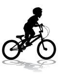 Menino na bicicleta Foto de Stock