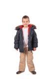 Menino na roupa do inverno imagens de stock royalty free
