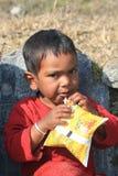 Menino nepalês Imagens de Stock
