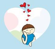 Menino no amor Ilustração Stock