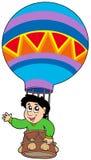 Menino no balão Imagem de Stock Royalty Free