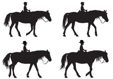 Menino no cavalo Imagens de Stock Royalty Free