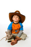 Menino no chapéu de cowboy Imagem de Stock Royalty Free