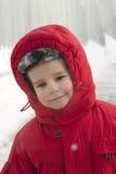 Menino no inverno Fotos de Stock Royalty Free