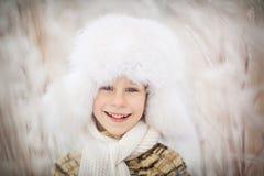 Menino no inverno Fotografia de Stock
