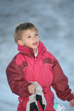 Menino no snowsuit Fotos de Stock Royalty Free