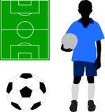 Menino no uniforme do futebol Imagens de Stock