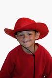 Menino no vermelho imagens de stock