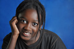 Menino novo afro-americano Fotografia de Stock Royalty Free