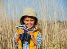 Menino novo do safari Foto de Stock