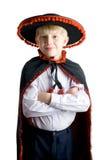 Menino novo no chapéu mexicano Imagens de Stock