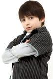 Menino ocasional dos anos de idade seis adoráveis Fotografia de Stock Royalty Free
