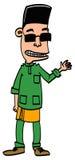 Menino ou homem que vestem Baju Melayu Imagens de Stock