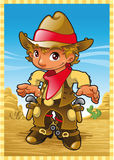 Menino pequeno da vaca ilustração stock