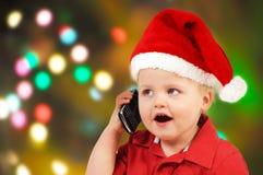 Menino pequeno de Santa Imagens de Stock Royalty Free