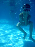 Menino pequeno do mergulhador Imagem de Stock Royalty Free