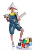 Menino pequeno do pintor Fotografia de Stock