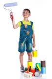 Menino pequeno do pintor Foto de Stock Royalty Free
