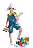 Menino pequeno do pintor Imagem de Stock