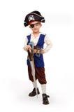 Menino pequeno no traje do pirata Imagem de Stock Royalty Free