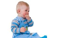 Menino pequeno que suga o polegar fotos de stock royalty free