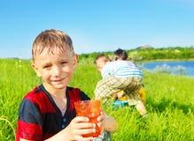 Menino pré-escolar de sorriso Foto de Stock Royalty Free
