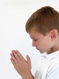 Menino Praying Fotografia de Stock