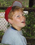 menino Pre-adolescente que aprecia o verão foto de stock