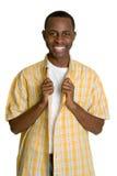 Menino preto adolescente Imagens de Stock