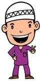 Menino que veste Baju Melayu Foto de Stock Royalty Free