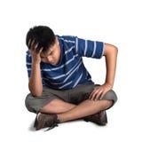 Menino sério do adolescente Imagem de Stock