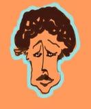Menino triste dos desenhos animados Imagem de Stock