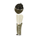 menino triste dos desenhos animados retros Imagem de Stock Royalty Free
